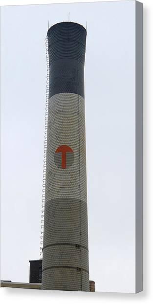 Temple University Canvas Print - Temple Smokestack by Richard Reeve