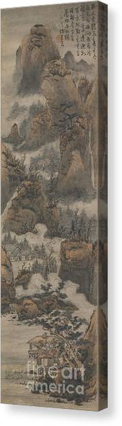 Equilibrium Canvas Print - Temples Among Autumn Mountains by Celestial Images