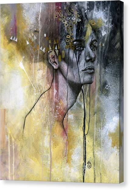 Abstract Portrait Canvas Print - Temporal by Patricia Ariel