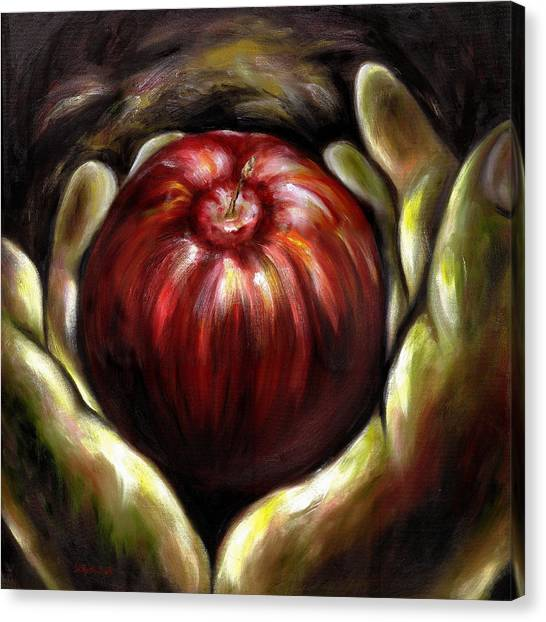 Temptation... Adams Dilemma Canvas Print