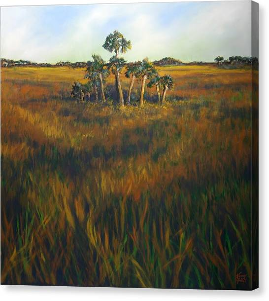 Ten Palms Canvas Print by Michele Hollister - for Nancy Asbell