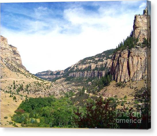 Ten Sleep Canyon -2 Canvas Print