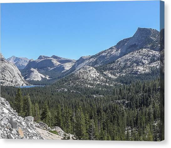 Tenaya Lake And Surrounding Mountains Yosemite National Park Canvas Print
