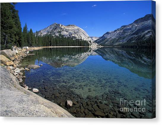 Tenaya Lake Canvas Print by Stan and Anne Foster
