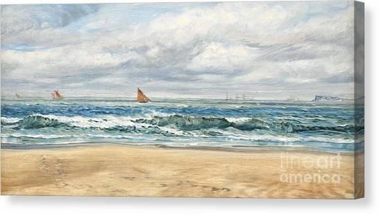 Sea Canvas Print - Tenby by John Brett