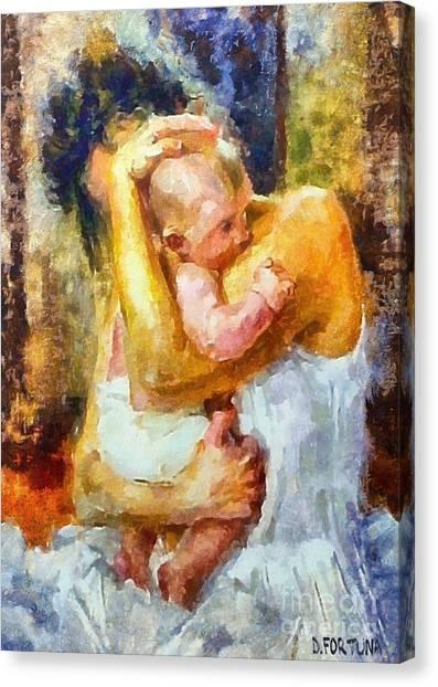 Tender Moment Canvas Print