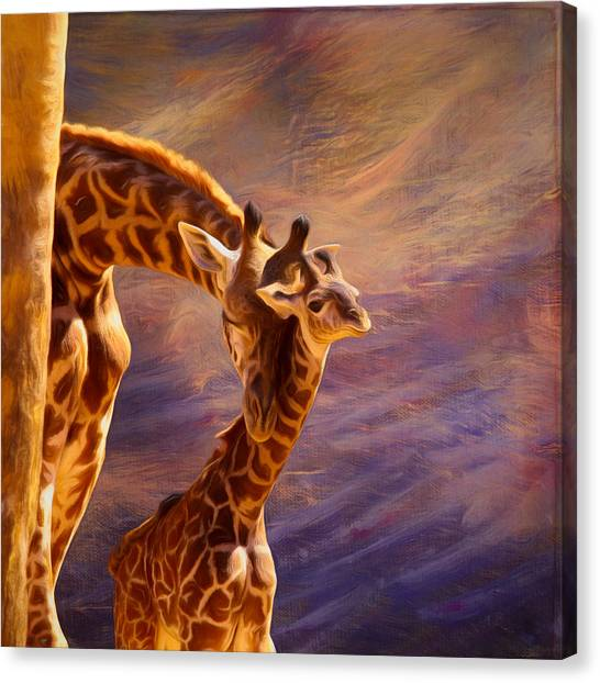 Woodland Canvas Print - Tenderness Painted by Judy Vincent