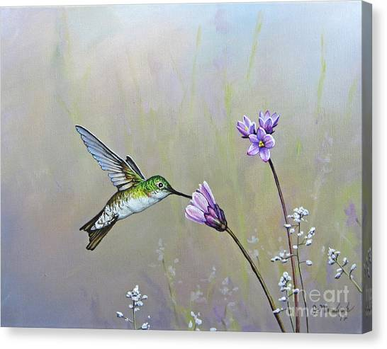 Tending The Garden Canvas Print