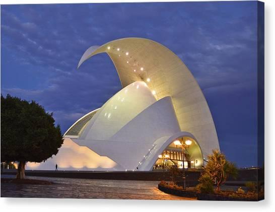 Tenerife Auditorium At Dusk Canvas Print