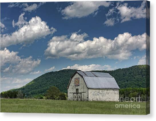 Tennessee Barn Quilt Canvas Print