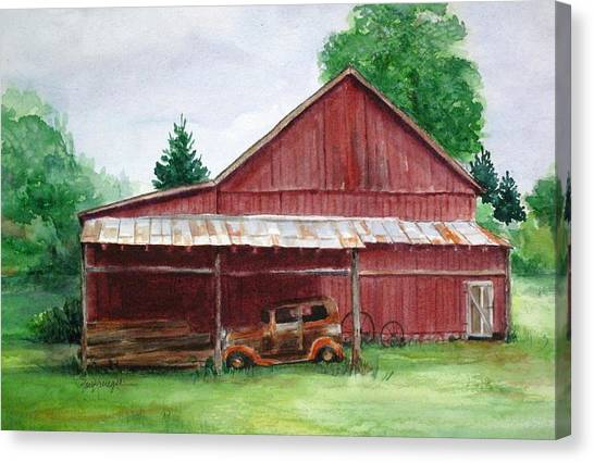 Tennessee Barn Canvas Print by Suzanne Krueger