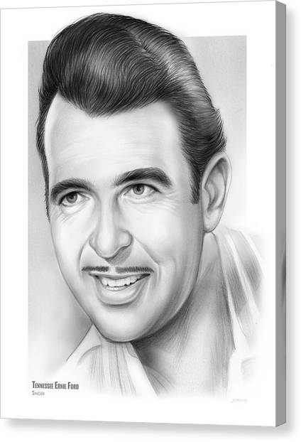 Tennessee Canvas Print - Tennessee Ernie Ford by Greg Joens