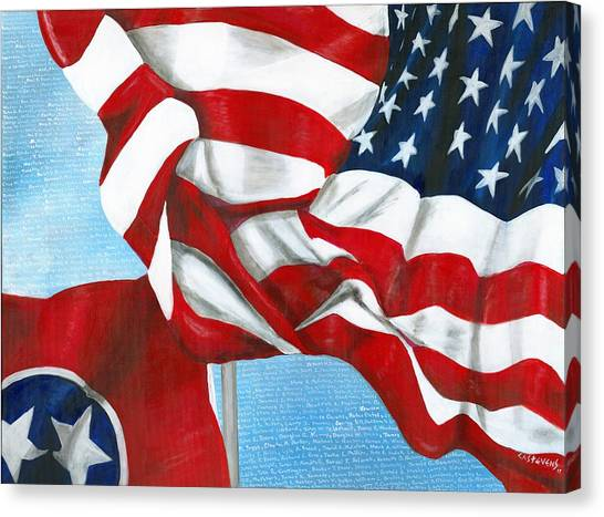 Tennessee Heroes Canvas Print