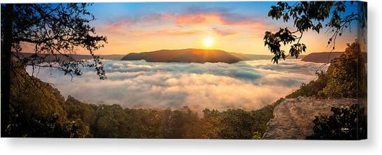 Tennessee River Gorge Morning Fog Canvas Print