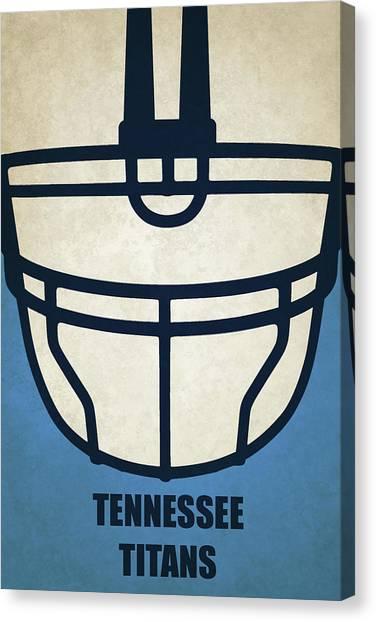 Tennessee Titans Canvas Print - Tennessee Titans Helmet Art by Joe Hamilton