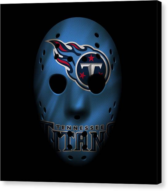 Tennessee Titans Canvas Print - Tennessee Titans War Mask by Joe Hamilton