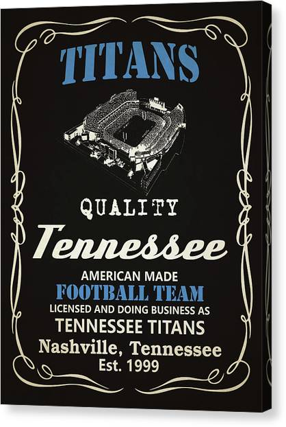 Tennessee Titans Canvas Print - Tennessee Titans Whiskey by Joe Hamilton