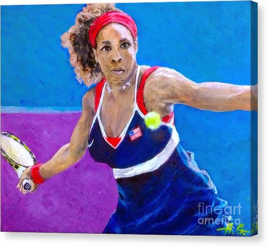 Andy Roddick Canvas Print - Serena Williams by Alexander Gatsaniouk