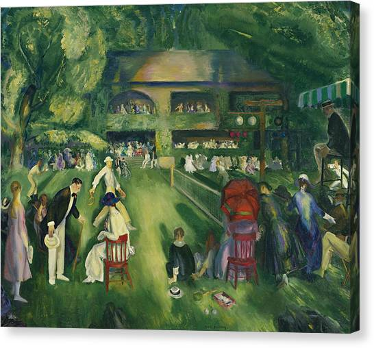 American Painters Canvas Print - Tennis At Newport by George Bellows