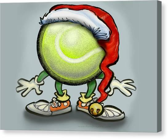 Tennis Christmas Canvas Print