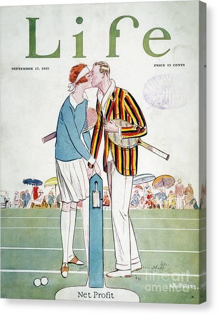 Aod Canvas Print - Tennis Court Romance, 1925 by Granger