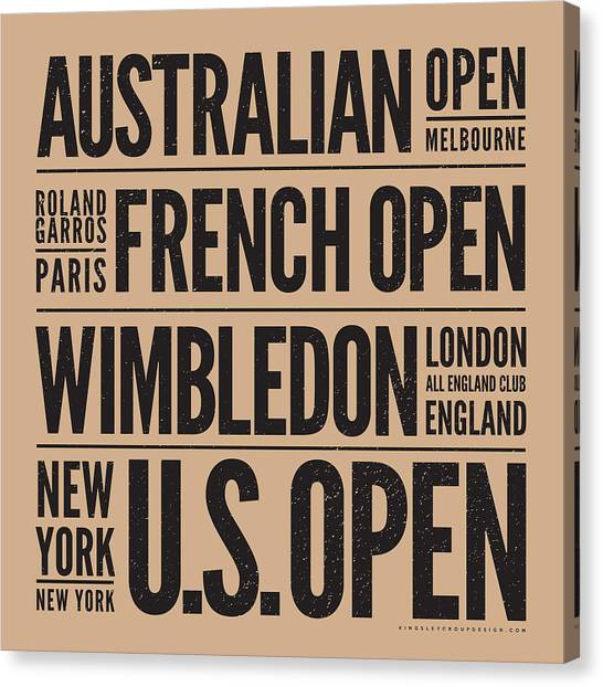 Tennis Players Canvas Print - Tennis Grand Slams by Mark Brown