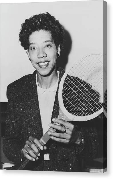 Althea Canvas Print - Tennis Great Althea Gibson 1955 by New York Telegram