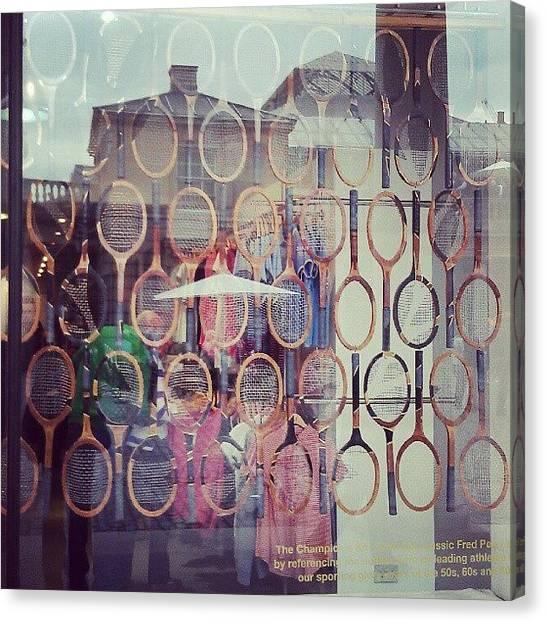 Tennis Canvas Print - #tennisrackets #fredperry #shopfront by Skye Park