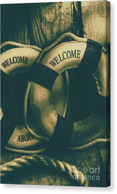Caution Canvas Print - Tension On The High Seas by Jorgo Photography - Wall Art Gallery