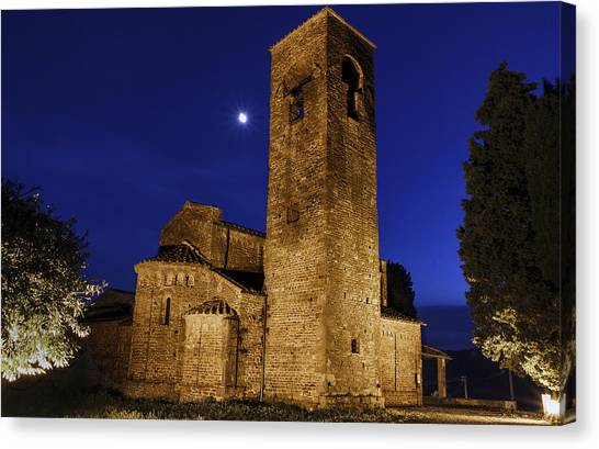 Tenth Century Church In Artimino Canvas Print