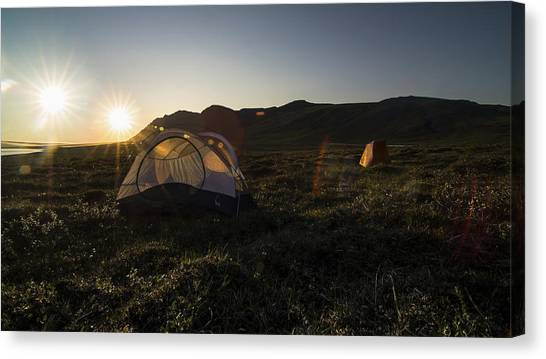 Tenting In The Midnight Sun Canvas Print