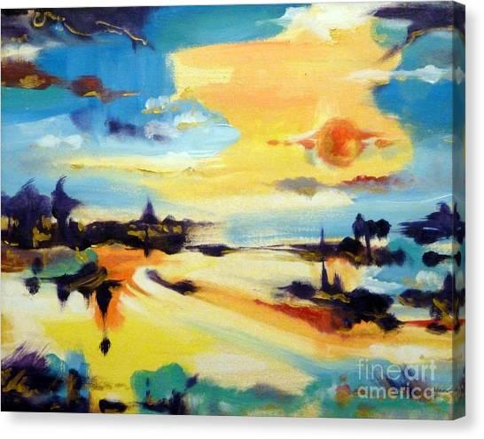 Tequila Sunrise Canvas Print - Tequila Sunrise by Cheryl Emerson Adams