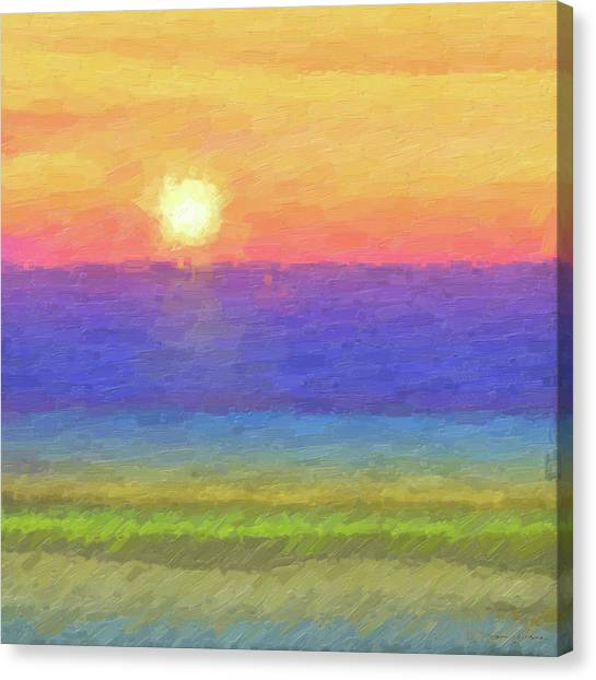 Tequila Sunrise Canvas Print - Tequila Sunrise To Remember by Serge Averbukh