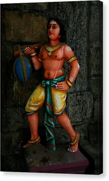 Teracotta Art Canvas Print by Deepak Pawar