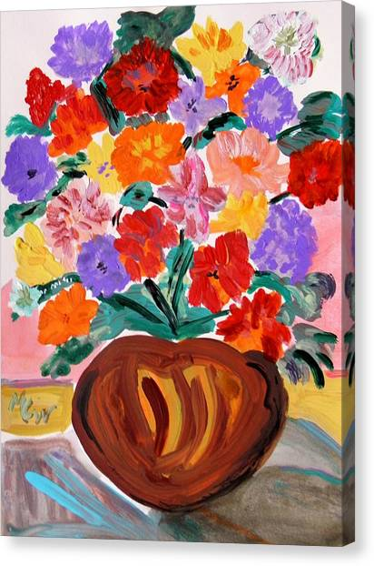 Terra Cotta And Mixed Bouquet Canvas Print