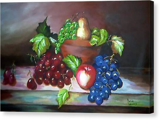 Terra Cotta Bowl Canvas Print by Julie Lamons