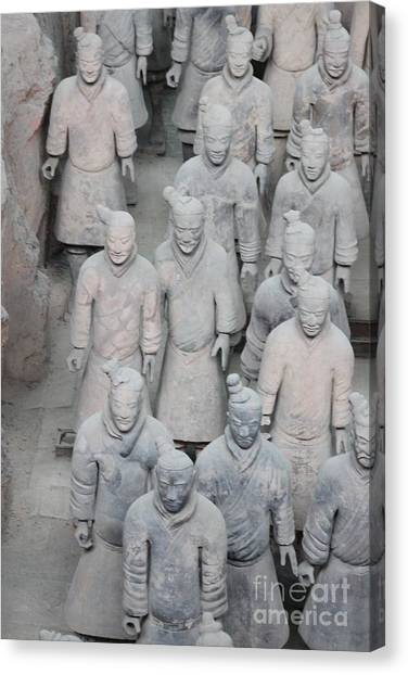 Terra Cotta Warriors Detail Canvas Print