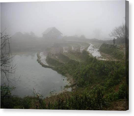 Terraces In Sa Pa Village Vietnam Canvas Print