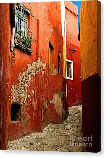 Terracotta Alley Canvas Print by Mexicolors Art Photography