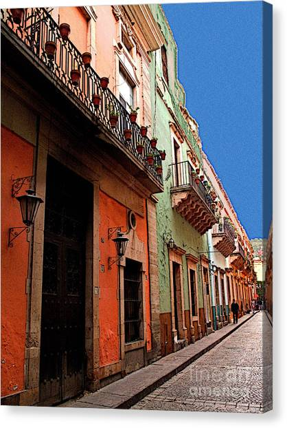 Terracotta And Mint Canvas Print by Mexicolors Art Photography