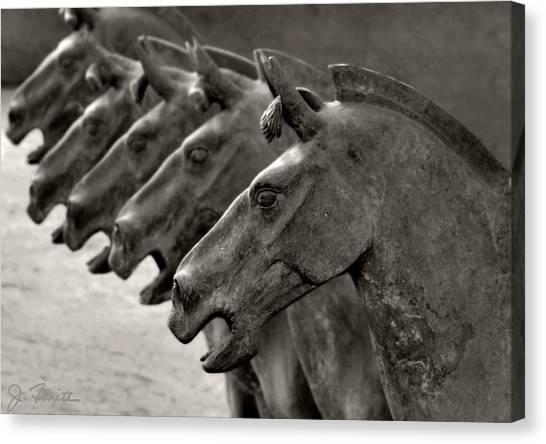 Terracotta Horses Canvas Print