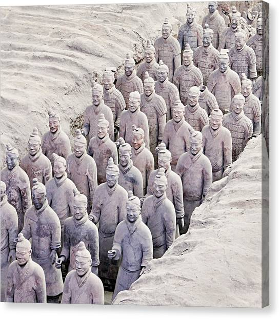 Terracotta Warriors Canvas Print