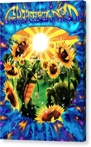 Grateful Dead Canvas Print - Terrapin Sun Flowers by The Turtle