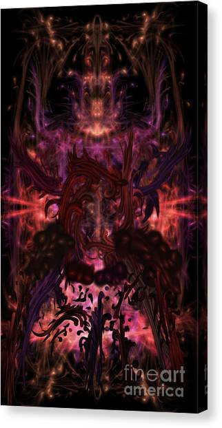 Canvas Print featuring the digital art Terrible Certainty by Reed Novotny