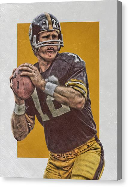 Pittsburgh Steelers Canvas Print - Terry Bradshaw Pittsburgh Steelers Art by Joe Hamilton