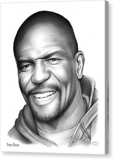 Football Players Canvas Print - Terry Crews by Greg Joens