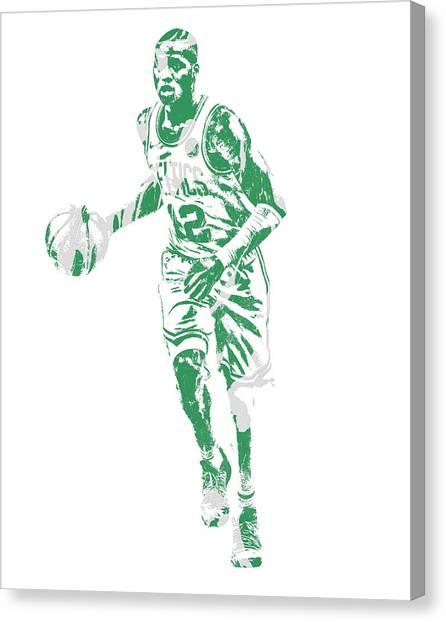 Boston Celtics Canvas Print - Terry Rozier Boston Celtics Pixel Art 10 by Joe Hamilton