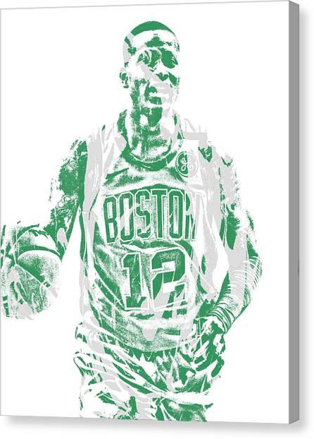 Boston Celtics Canvas Print - Terry Rozier Boston Celtics Pixel Art 11 by Joe Hamilton