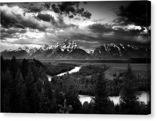 Grand Tetons Canvas Print - Teton Drama by Andrew Soundarajan