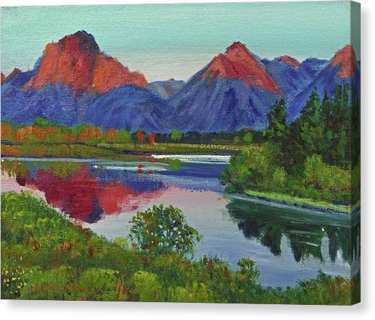 Teton Canvas Print -  Teton Lake by David Lloyd Glover